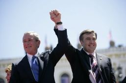 George Bush and Mikeil Saakashvili